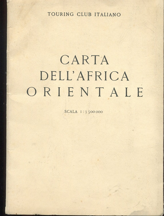 CARTA DELL'AFRICA ORIENTALE SCALA 1:3.500.000